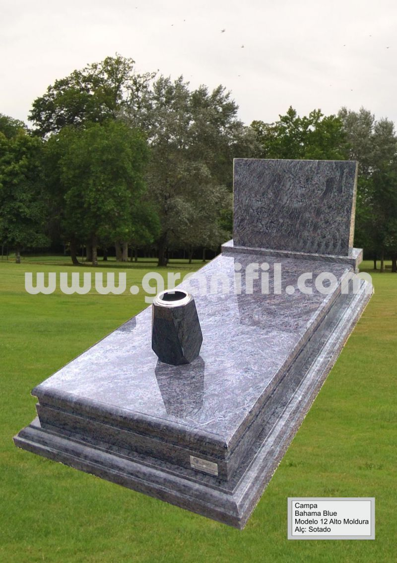 Monument in Granite Model 12 High Frame with Headstone Sotado  | Granifil - Mármores e Granitos