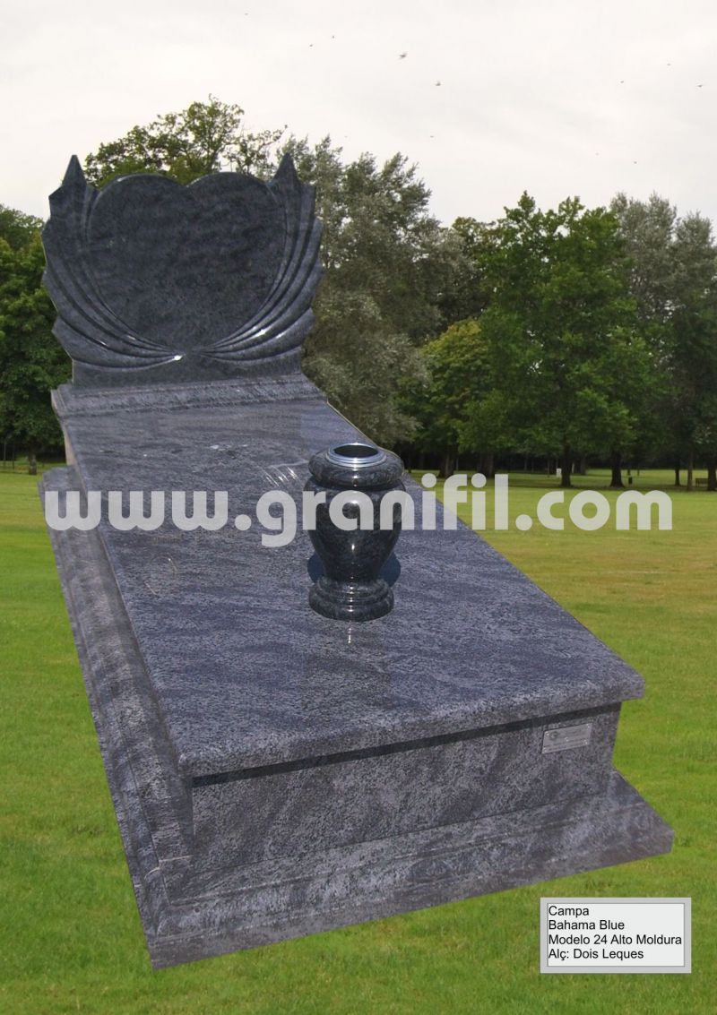 Monument in Granite Model 24 High Frame with 2 Fan Headstone  | Granifil - Mármores e Granitos