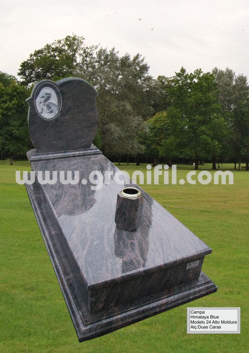 Monument in Granite Model 24 High Frame with 2 Faces Headstone  | Granifil - Mármores e Granitos