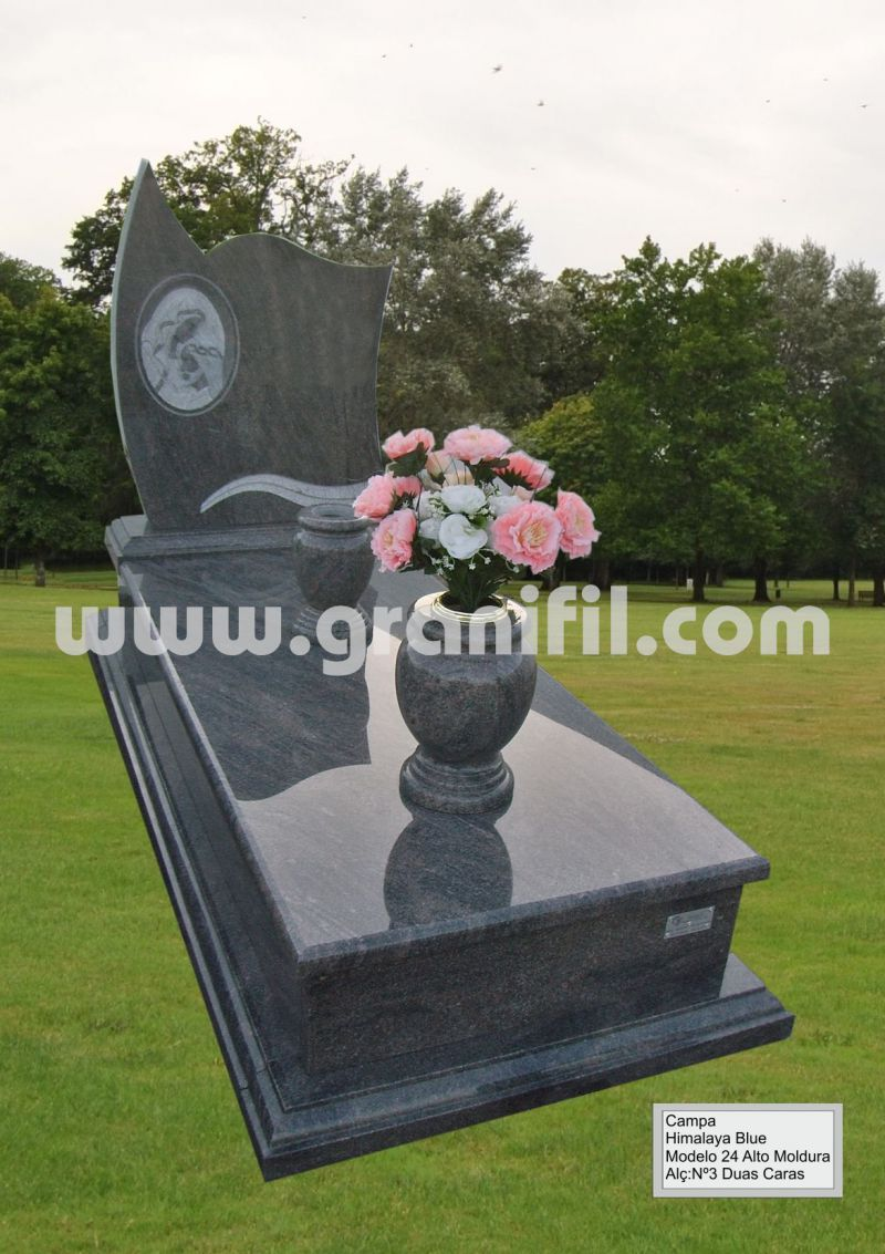 Monument in Granite -  Model 24 High Frame with 2 Faces Headstone  | Granifil - Mármores e Granitos