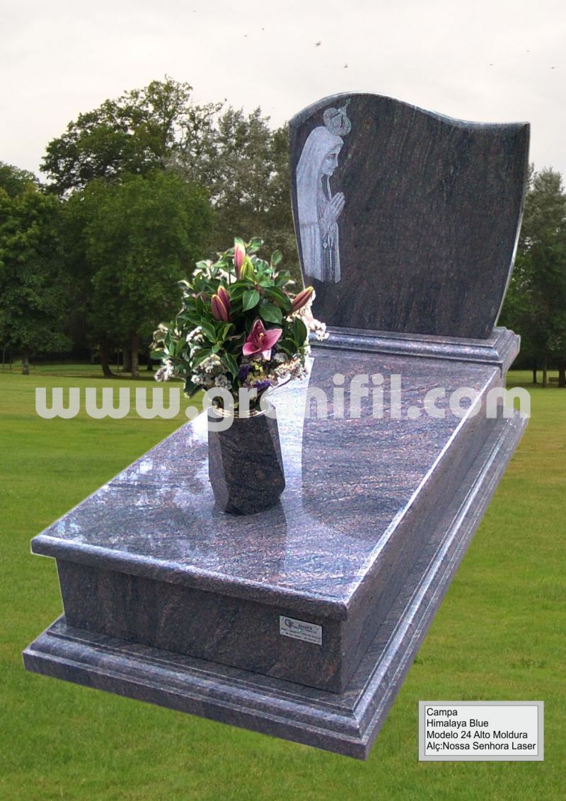 Monument in Granite - Model 24 High Frame with Laser Saint Headstone  | Granifil - Mármores e Granitos